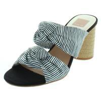 Dolce Vita Womens Jene White Work Slide Sandals Shoes 10 Medium (B,M) BHFO 7779