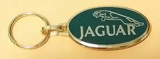 Jaguar Schlüsselanhänger Logo grün Rückseite Springer golden 50x27mm