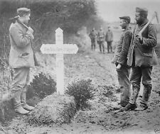 German language cross over the grave of a French soldier World War I 8x10 Photo