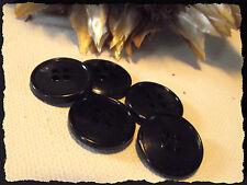 LOT 8 BOUTONS  Noir * 18 mm * 4 trous * 1,8 cm black button sewing mercerie