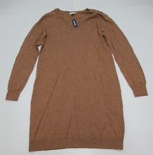 new OLD NAVY #DR1419 Women's Size L Tall V-Neck Casual Tan Brown Sweater Dress