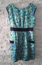 Lilly Pulitzer Blue Green Hammered Satin Silk Oops I Spilled Kimball It Dress 4