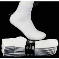 9-11 10-13  4 Pairs Men's Heavy Weight  Ankle Socks White Cotton Thick Socks