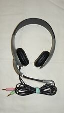 CYBER ACOUSTICS STEREO HEADPHONES SILVER WITH BOOM MIC