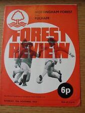 10/11/1973 Nottingham Forest v Fulham  (slightly folded)