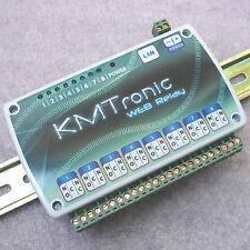 KMTronic LAN 8-fach Netzwerk Relais Carte (Internet relaisplatine), DIN rail