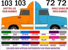 UNIT NUMBER DECALS FOR SEMI TRUCKS - FREE SHIPPING