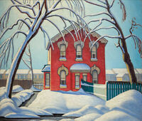 Lawren Harris : The Red House : 1930  : Archival Quality Art Print