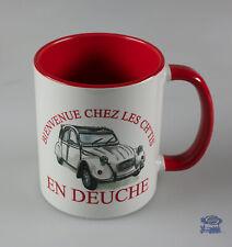 Citroën 2CV Bienvenue chez les Ch'tis, Mug Blanc / Rouge