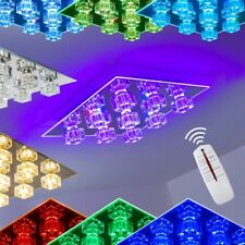 LED Farbwechsel RGB  Lampe mit Fernbedienung Chrom Decken Leuchte Wohn Zimmer