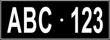 Number Plate Kids Plate Child Bike Rack Licence Man Cave Sign House Cubby Kennel