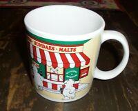 1999 Vintage Coca Cola coffee Mug Cup Polar Bears ~ red white green