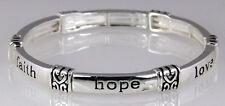 4031078 Faith Hope Love Stretch Bracelet 1st Corinthians Bible Scripture Chri...