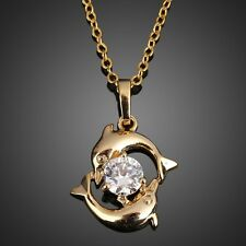 New Fashion Necklace Couple Dolphin Necklace 18K Gold Plated Chain Necklace