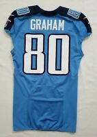 #80 Graham of Tennessee Titans NFL Locker Room Game Issued Player Worn Jersey