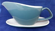 Poole Blue Moon gravy boat with mis-matched saucer
