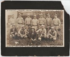 RARE 1909 Baseball Team Photo - Linton Nationals Indiana All ID'd Games Scores