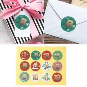 Christmas Sealing Stickers Adhesive Label Paper Stickers Xmas Gifts Box Decor