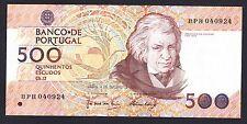 Portugal  500 Escudos 1989  UNC  P. 180,  Banknotes, Uncirculated