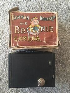 Eastman / Kodak No. 2 Brownie Camera - Boxed / Burgundy (Read Description)