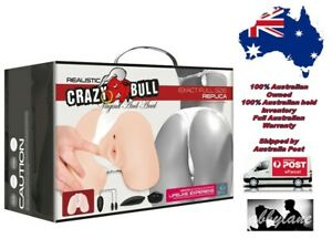 Crazy Bull Vibrating Back-Door Vagina And Anal Stimulator (Flesh)