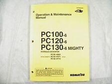 KOMATSU PC100-6 PC120-6 PC130-6 OPERATION AND MAINTENANCE MANUAL