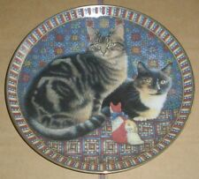 Danbury Mint Plate OCTOPUSSY & MOTLEY IN AMERICA - CATS AROUND THE WORLD