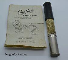 SUPERB Vintage Otis King Model L Type B J0370 Cylindrical Slide Rule Calculator