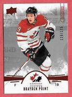 2016-17 Brayden Point Upper Deck Team Canada Juniors 119/175 Red - Lightning