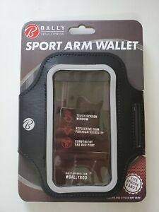 Bally Total Fitness Sport Arm Wallet Phone Holder Black fit Iphone X and 8 NEW