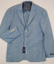 Polo Ralph Lauren Sportcoat Chambray Sport Coat Jacket Blazer 38R 38 R NWT $395