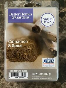 NEW BETTER HOMES & GARDENS CINNAMON & SPICE WAX MELT CUBES - 5 OZ. VALUE PACK