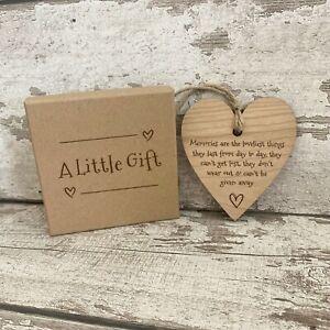 Wellbeing Gift for Women & Friendship Handmade Hanging Heart Plaque Mindfulness