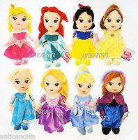 Princesses Originaux Disney Peluche Ariel Rapunzel Elsa Blancheneige Belle 30 CM