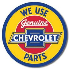"Chevrolet Parts 12"" Round Tin Sign Nostalgic Metal Sign Chevy Retro Garage Decor"