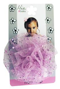 Mia Baby + Girl, Sparkly Tulle Rosette Flower Hair Clip 1pc