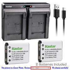 Kastar Battery Slim Dual Charger for Fujim NP45 BC45 FinePix JV160 FinePix JV200
