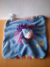Doudou Ane Disney Bourriquet plat bleu rayures multicolores
