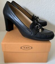 GEOX Respira Pumps, Business-Schuhe, Black High Heels, Scarpe Gr. 37 + TOD´S Box