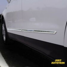 Chrome Body Door Side Molding Cover trims For 2016 2017 Cadillac XT5