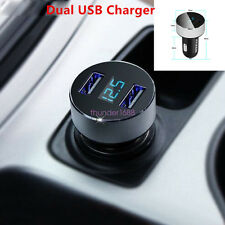 12V-24V Dual USB Car SUV Interior Cigarette Lighter Charger Adapter For iPhone