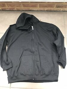 Mens Black Oversize Zip Hoodie Size XL