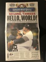 2012 DETROIT Free Press TIGERS ALCS Champions SWEEP Yankees WORLD SERIES Cabrera