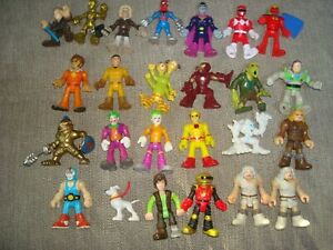 Huge Imaginext LOT 25 Figures Super Heroes Marvel Cavemen Toy Story Star Wars