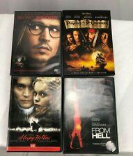 Johnny Depp Lot 4 DVD Sleepy Hollow From Hell Secret Window Pirates Caribbean