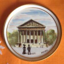Antique Limoges France Decorating Hand Painted Plate La Madeleine Paris