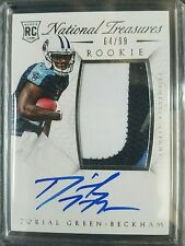 2015 NATIONAL TREASURES DORIAL GREEN-BECKHAM RPA #64/99 RC AUTO 3   COLOR PATCH