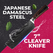 Japanese Damascus Stainless Carbon Steel Cleaver Knife Best Sharp Kitchen Knives
