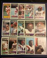 1983 Topps CINCINNATI BENGALS Complete Team Set (15) COLLINSWORTH-ANDERSON-MUNOZ