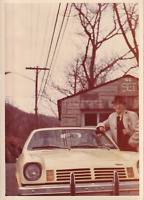 CAR GUY Man FOUND PHOTOGRAPH Color FREE SHIPPING Original Snapshot VINTAGE 82 4